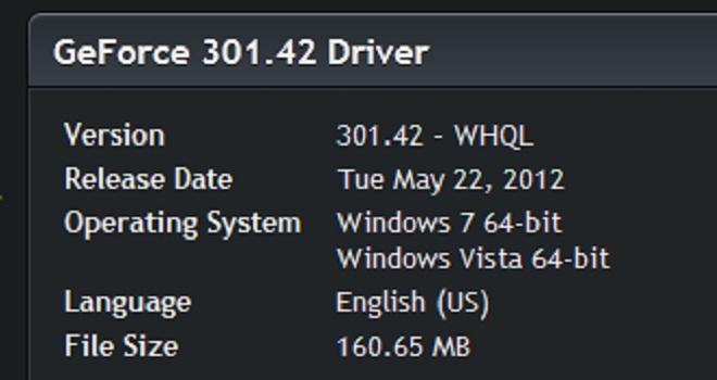 Controladores NVIDIA GeForce 301.42 WHQL a prueba