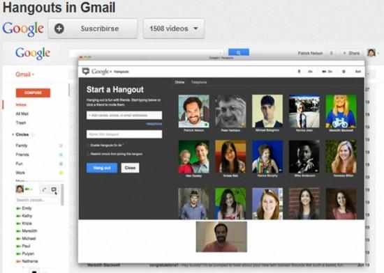 Gmail ahora también cuenta con Hangouts