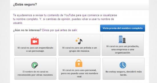Google quiere que la gente use su nombre real en YouTube