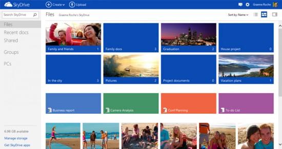 Microsoft actualiza web SkyDrive con estilo Windows 8