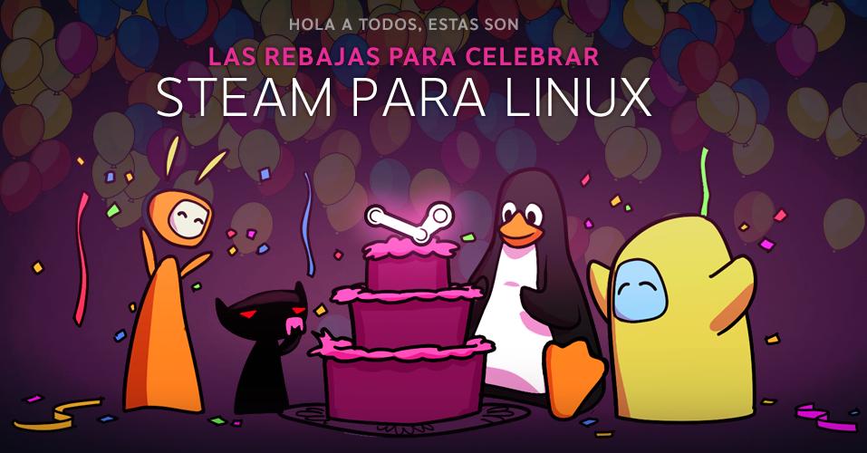Steam celebra su llegada oficial a Linux rebajas