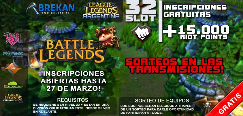 Inscripciones Battle of Legends