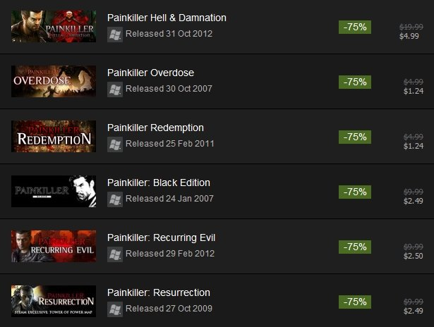 Painkiller Pack Completo