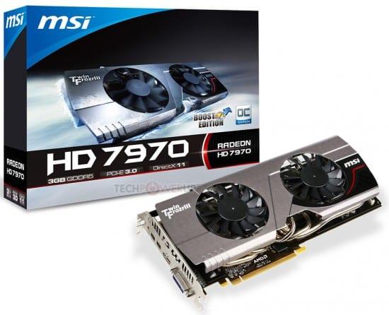 MSI muestras sus nuevas Radeon HD 7970 Boost Edition