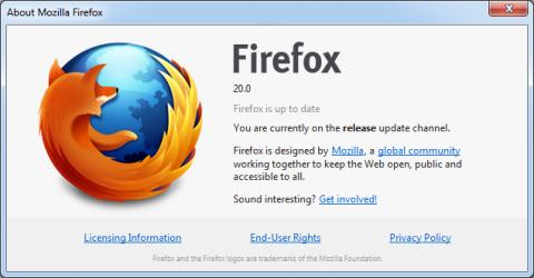 Ya esta disponible Firefox 20 con mejoras en la navegación privada y correcciones