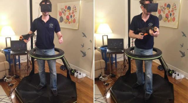 Así se juega TF2 con el Oculus Rift y una caminadora