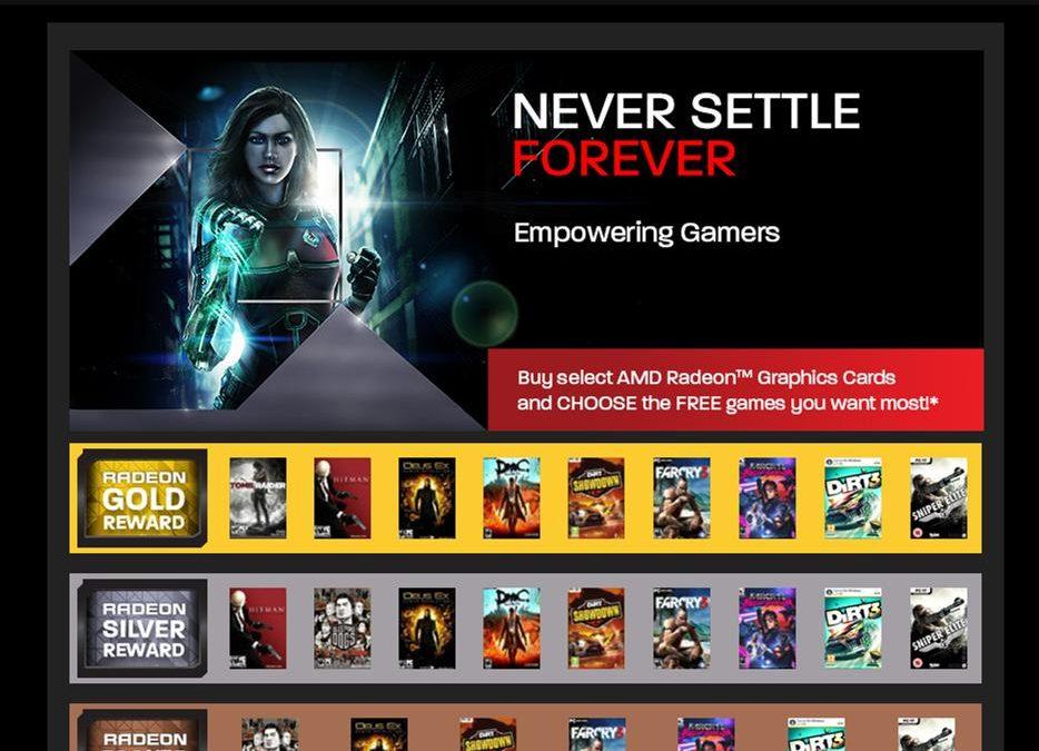 "Nuevo ""Never Settle Forever"" de AMD"
