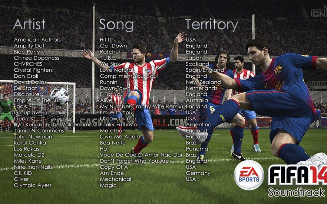 Soundtrack de FIFA 14 reúne a 37 artistas internacionales
