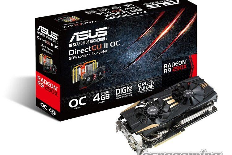 ASUS presenta las placas de video R9 290X y R9 290 DirectCU II