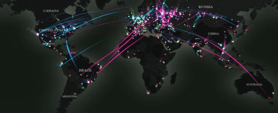 Kaspersky muestra los ciberataques alrededor del mundo