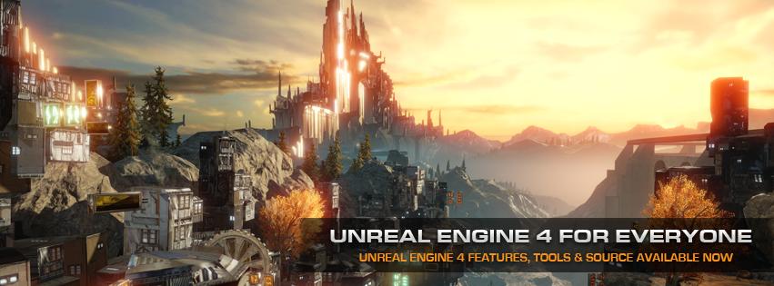 El motor gráfico Unreal Engine4 es gratuito para descarga