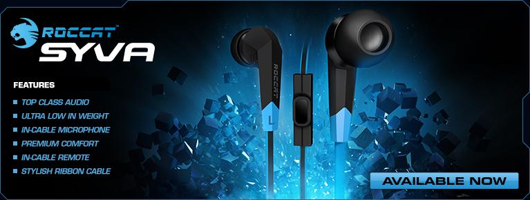 Roccat lanza sus nuevos auriculares gamers Syva