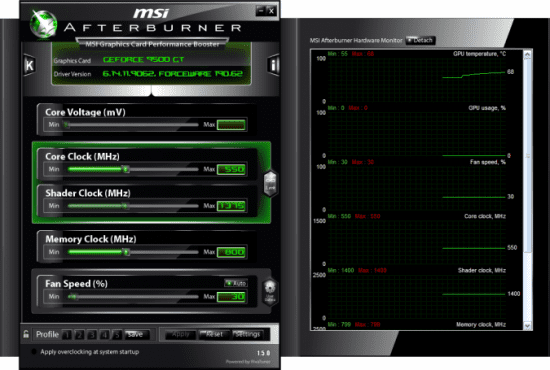 MSI actualiza su AfterBurner a la version 3.0.0