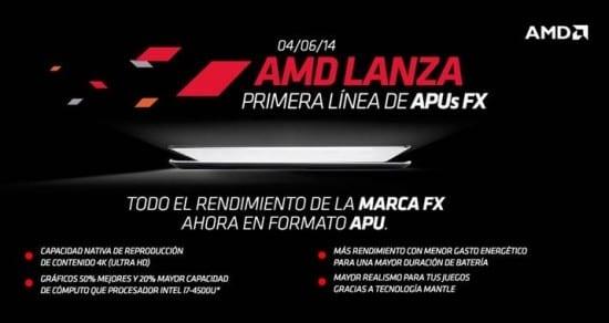 AMD anuncia sus APUs FX/A PRO/A-7000 Series