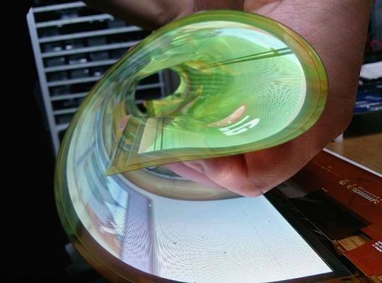 LG muestra su pantalla OLED de 18 pulgadas flexible