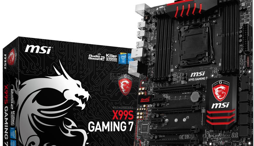MSI anuncia sus mothers X99S Gaming 7 y X99S Sli Plus
