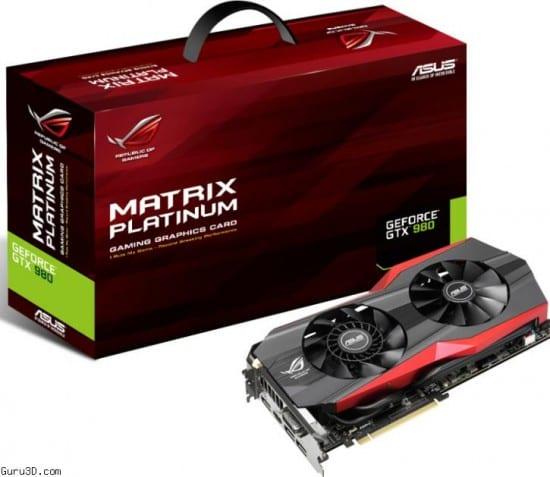 Asus presenta su GeForce GTX 980 ROG Matrix Platinum