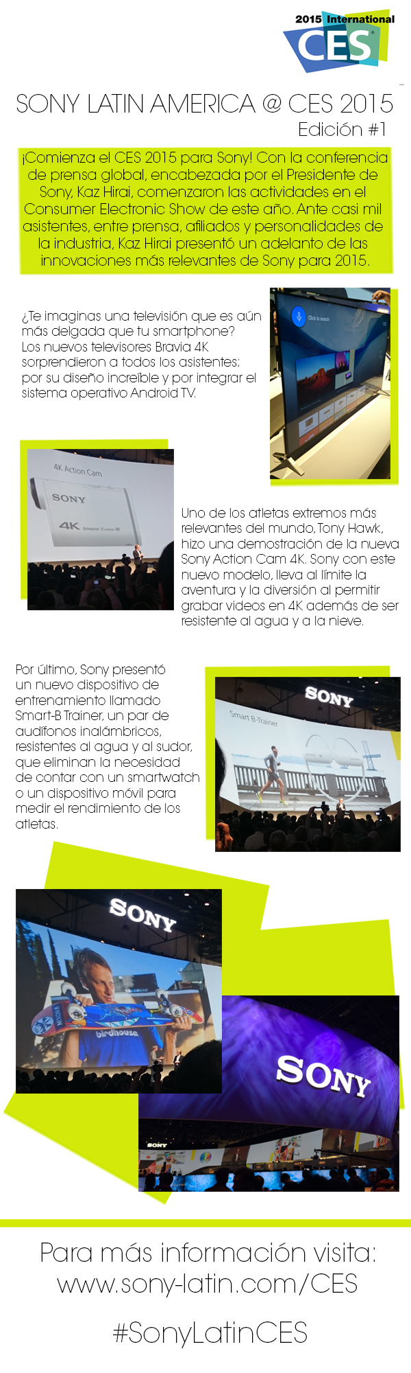 SonyLatin CES infrographic DAY1