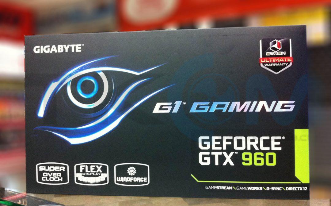 Gigabyte GeForce GTX 960 G1.Gaming fotografiada