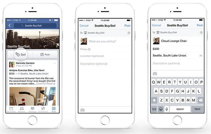 Facebook introduce características de Compra y Venta en los Grupos