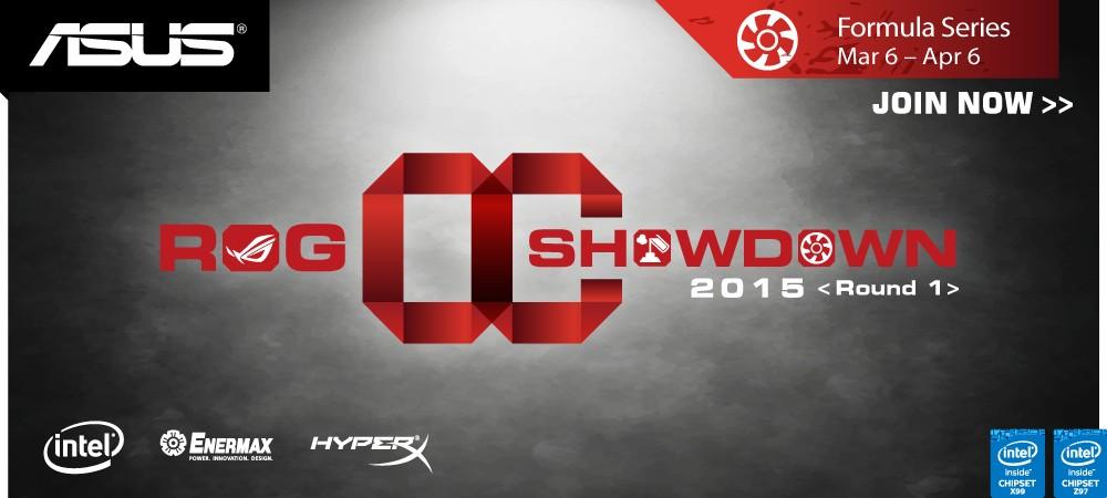 ASUS ROG anuncia OC Showdown 2015 Formula Series