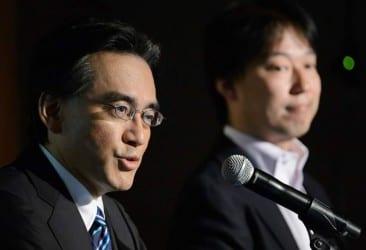 Nintendo President Satoru Iwata And DeNA President Isao Moriyasu Joint News Conference As The Companies Form Capital Alliance