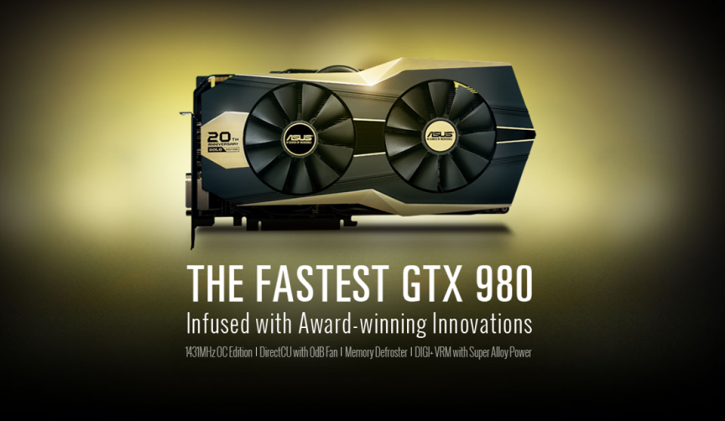 ASUS lanza su GTX 980 Edición Oro por su 20 aniversario
