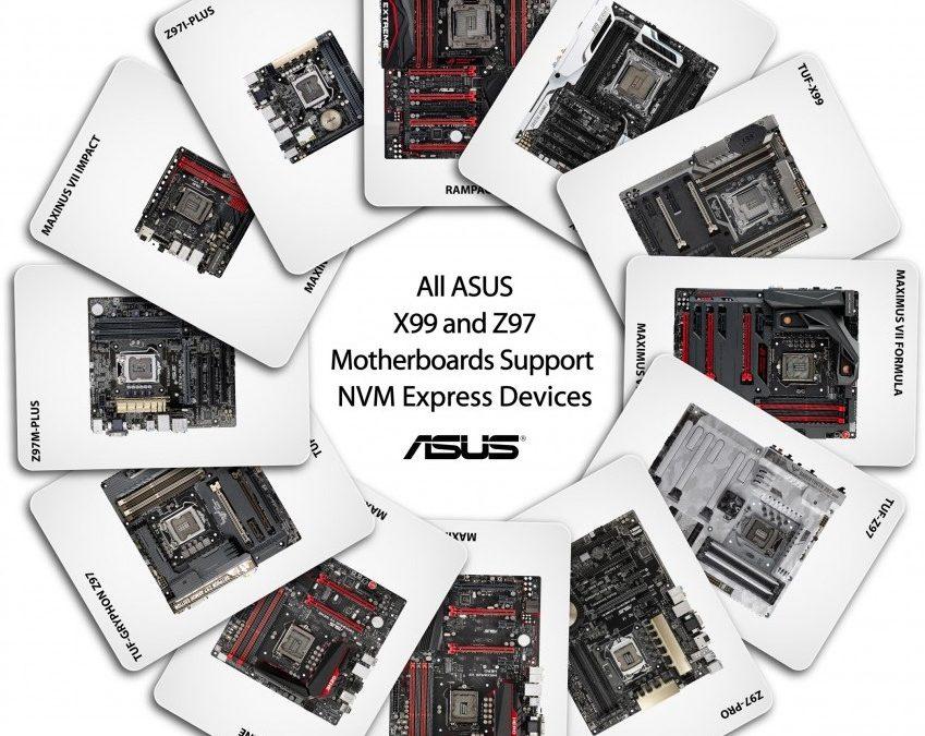 ASUS anuncia el soporte de NVMe para sus placas base