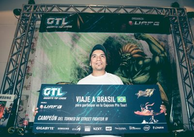 Claudio Gomez ganador del Street Fighter IV en GTL