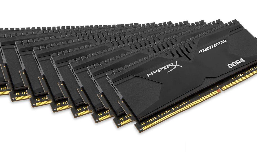 HyperX presenta el kit DDR4 más rápido de 128GB