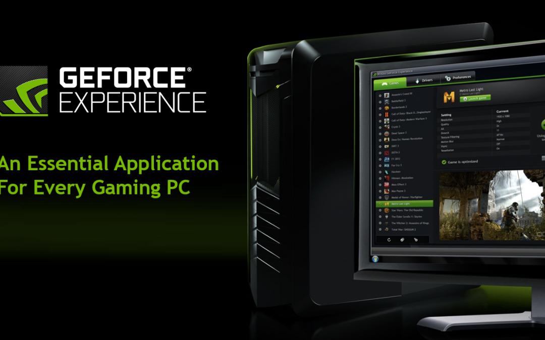 Nueva versión de GeForce Experience disponible