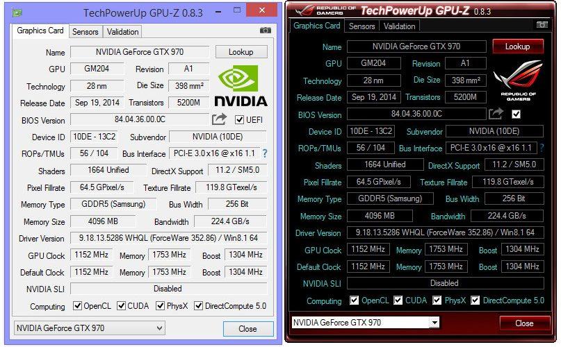 Disponible para descarga el GPU-Z 0.8.3