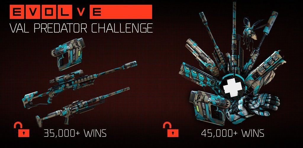 Val Predator Challenge en Evolve