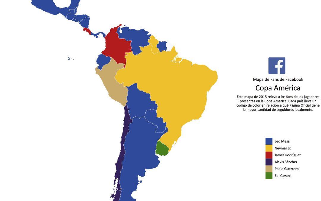 Mapa de fans de la Copa América 2015 en Facebook