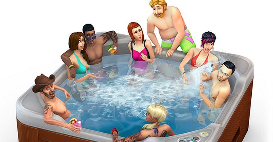 A la bañera de hidromasajes con los Sims
