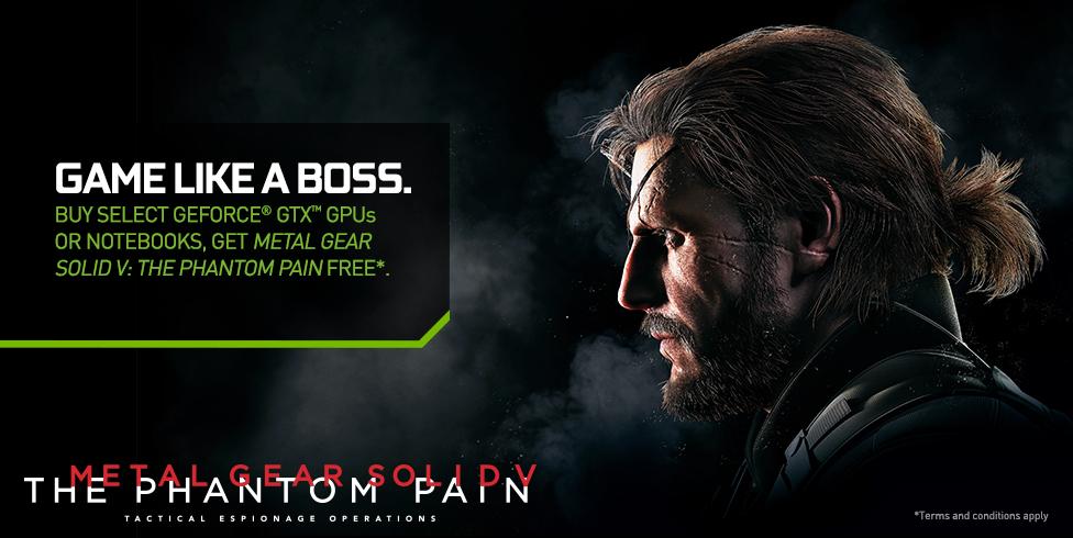 Metal Gear Solid V: The Phantom Pain con la compra de tarjetas Nvidia
