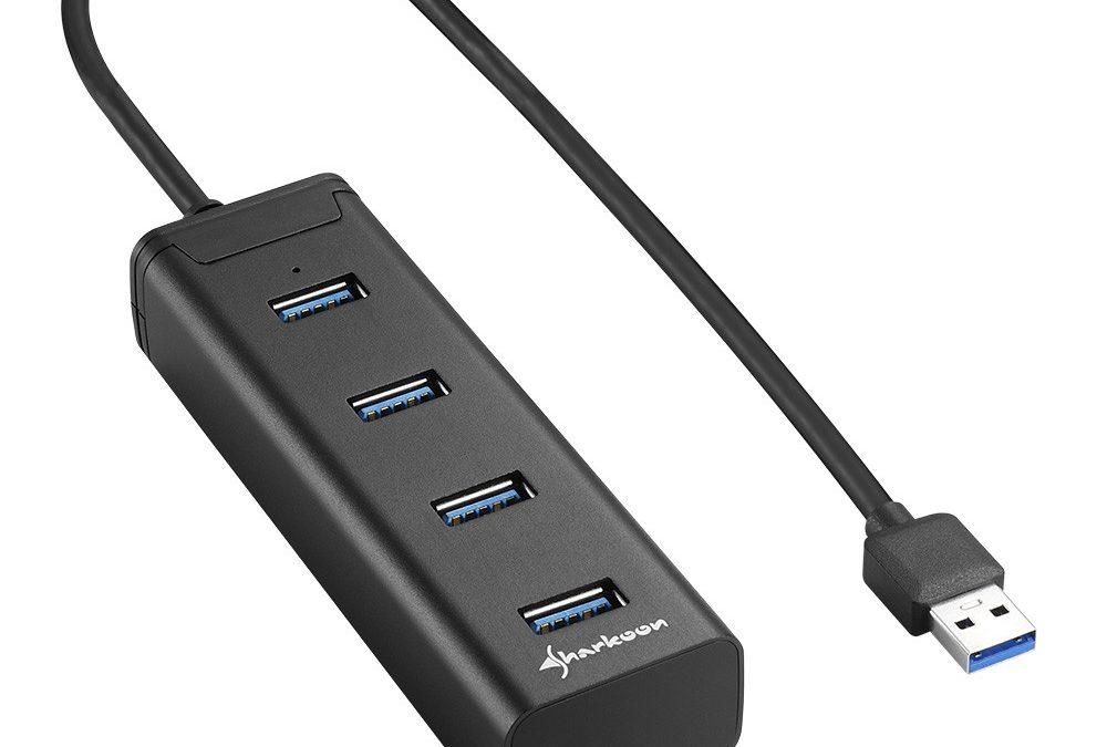 Nuevos hubs de aluminio USB 3.0 de Sharkoon
