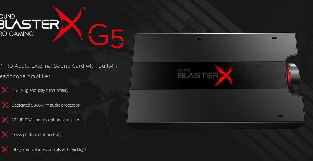 Creative lanzará Sound BlasterX® G5: 7.1 HD