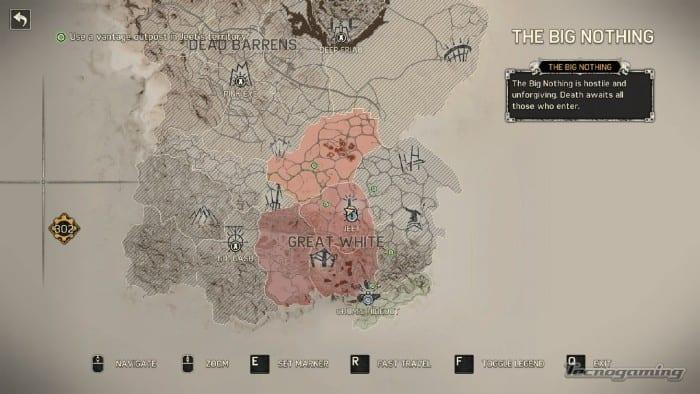 Mapa gigante en el Mad Max