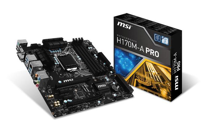 MSI presenta su placa base H170M A PRO