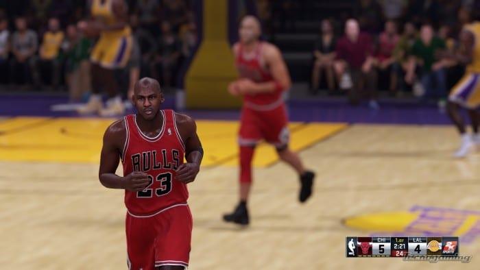 Michael Jordan perfectamente reflejado en el juego, hasta su personalidad captaron.