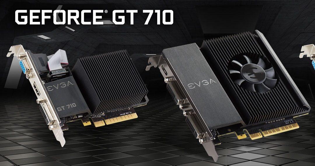 Esta es la nueva línea GeForce GT 710 de EVGA