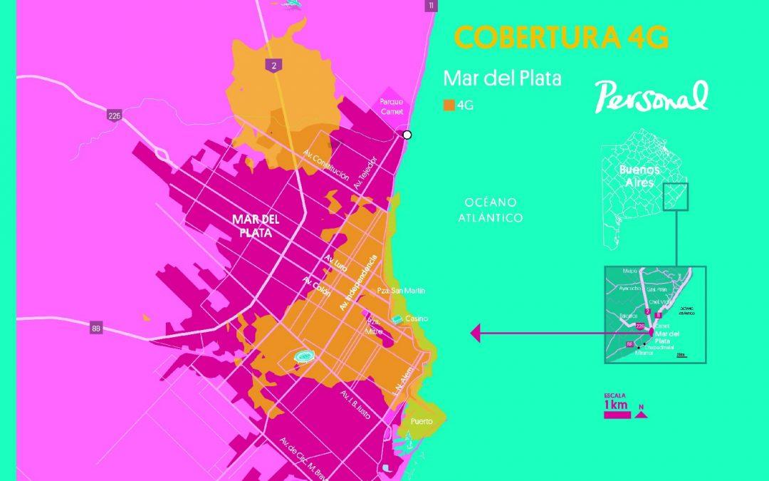Personal 4G en Mar del Plata y Pinamar