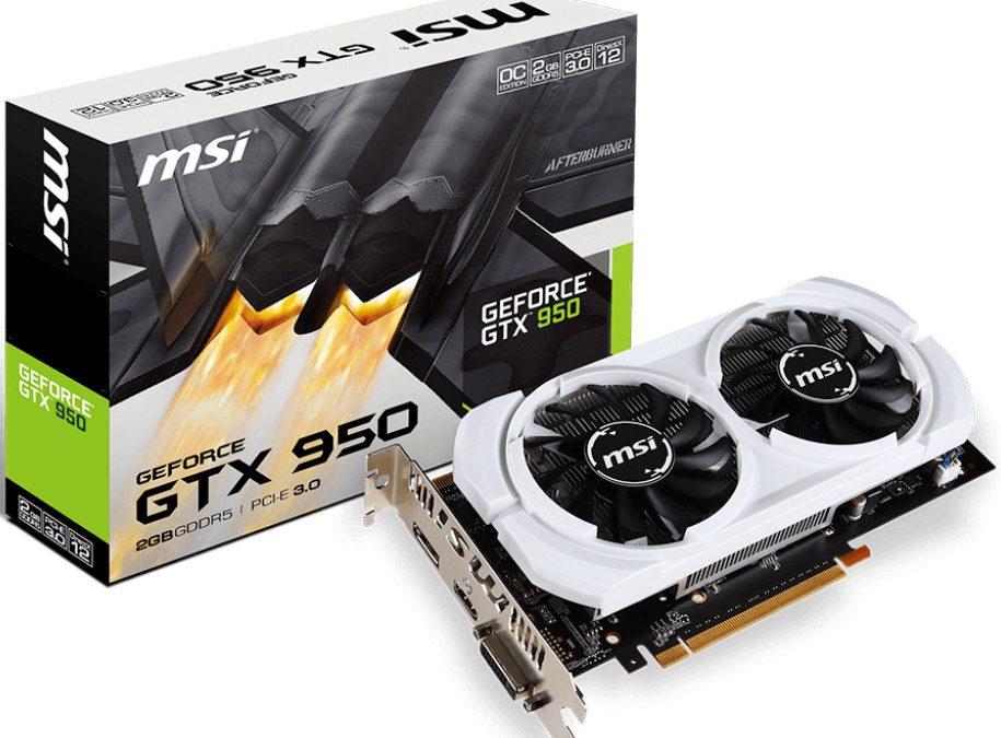 MSI lanza nuevas tarjetas GeForce GTX 950
