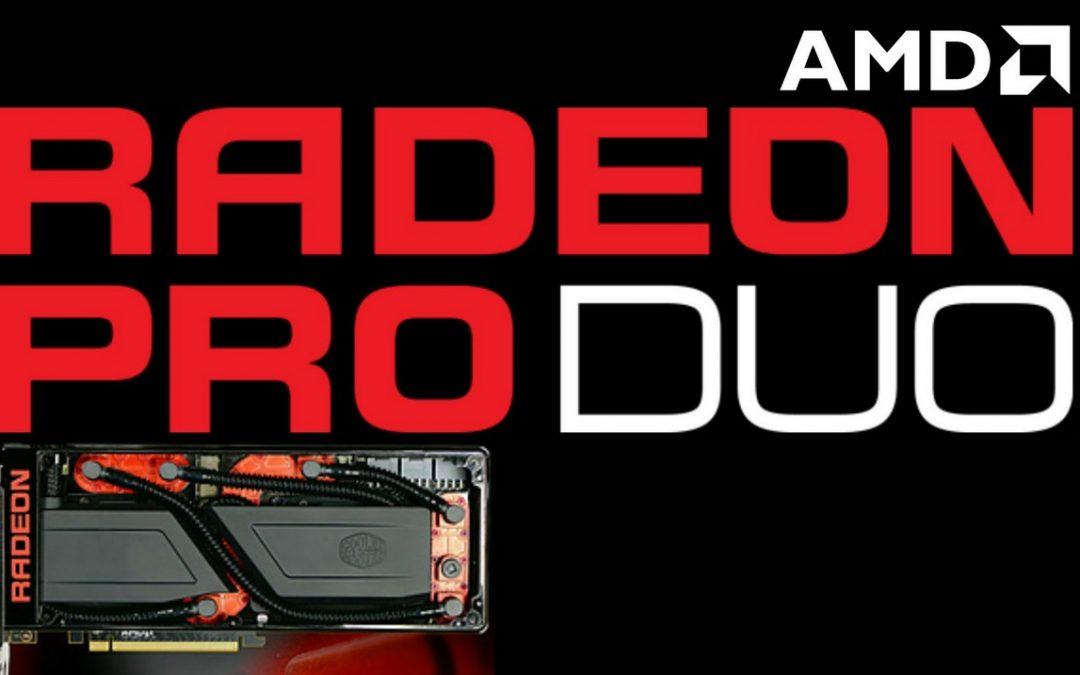 AMD Radeon Pro Duo se lanzaría el 26 de Abril