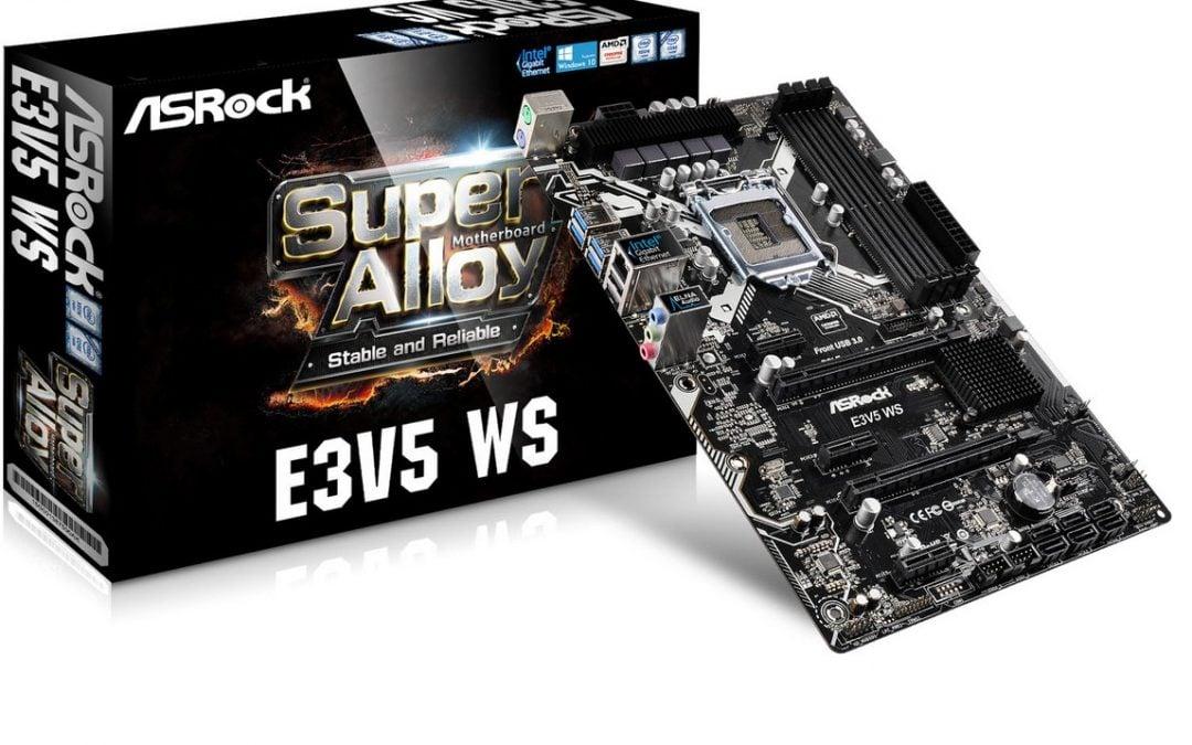ASRock anuncia sus nuevas soluciones para plataformas Xeon E3-1200 V5
