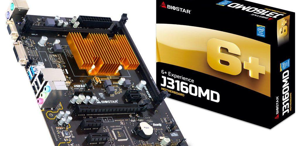 BIOSTAR anuncia su placa base con procesador J3160MD