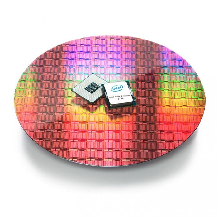 Xeon E7v4 on wafer white