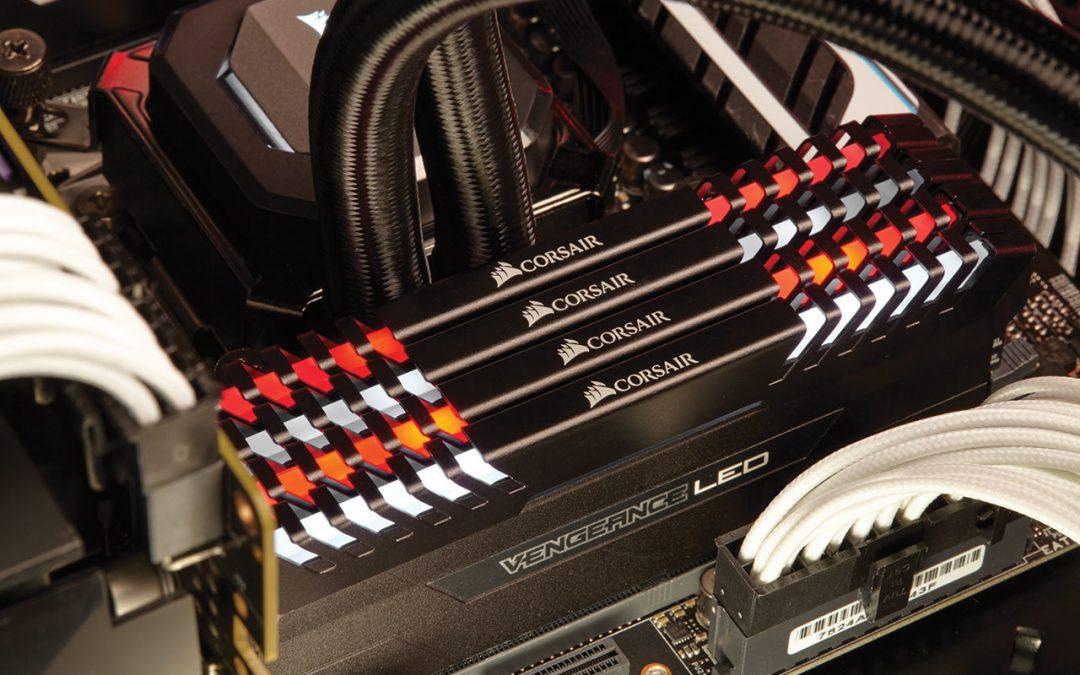Corsair anunció la serie de memorias DDR4 Vengeance LED