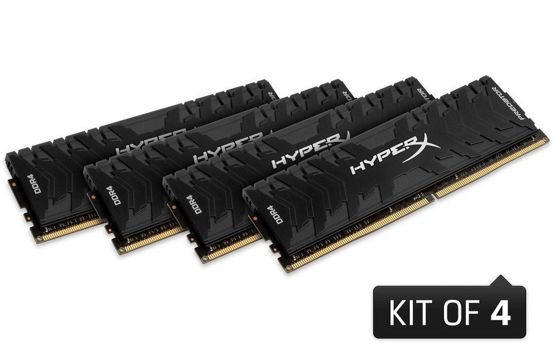 Kingston anuncia nuevos módulos DDR4 para su serie HyperX Predator